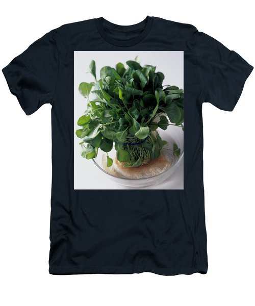 A Watercress Plant In A Bowl Of Water Men's T-Shirt (Athletic Fit)