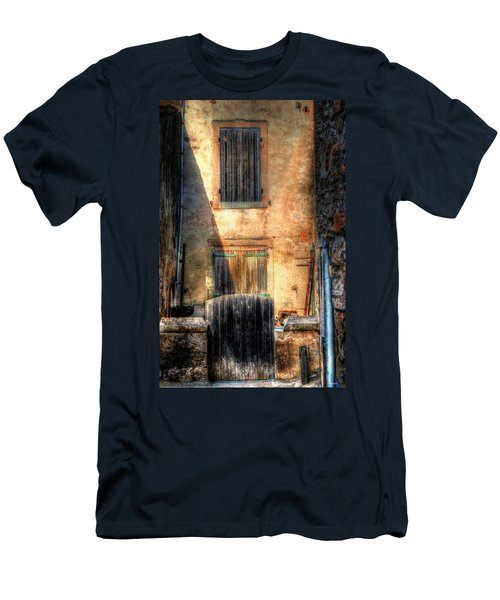 Men's T-Shirt (Slim Fit) featuring the photograph A Yard In France by Tom Prendergast