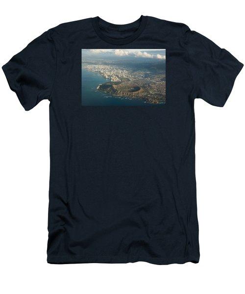 Men's T-Shirt (Slim Fit) featuring the photograph Above Hawaii by Georgia Mizuleva