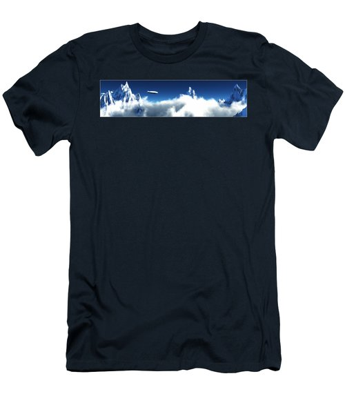Men's T-Shirt (Slim Fit) featuring the digital art Above The Clouds... by Tim Fillingim