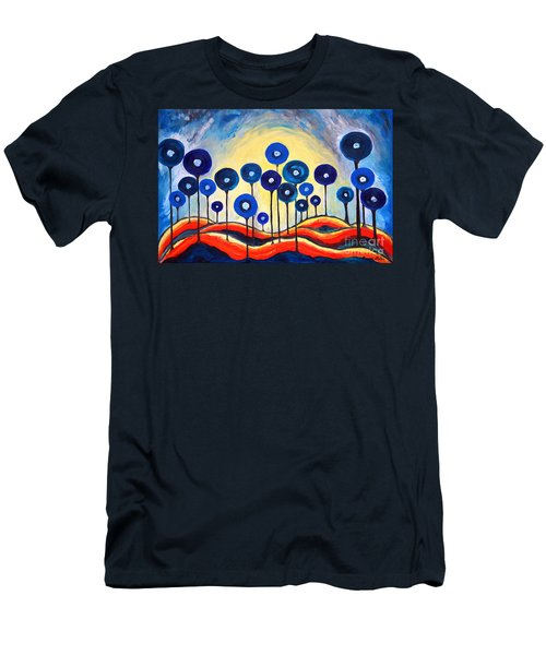 Abstract Blue Symphony  Men's T-Shirt (Athletic Fit)