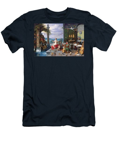 Allegory Of Music Oil On Canvas Men's T-Shirt (Athletic Fit)