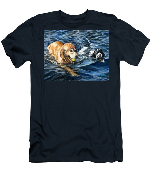 Ally And Smitty Men's T-Shirt (Slim Fit) by Eileen Patten Oliver