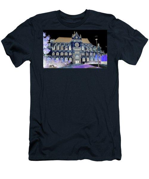 Altered Image Of Saint Eustache In Paris France Men's T-Shirt (Slim Fit) by Richard Rosenshein