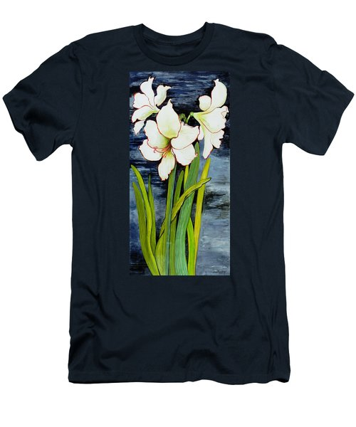Amaryllis Against A Night Sky Men's T-Shirt (Athletic Fit)