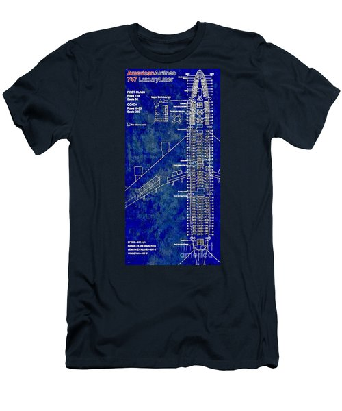 American Airlines 747 Men's T-Shirt (Slim Fit) by Daniel Janda