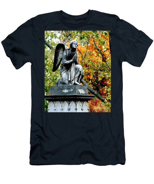 Men's T-Shirt (Slim Fit) featuring the photograph An Angels' Prayer by Lesa Fine