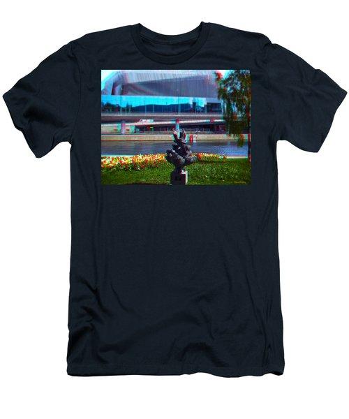 Anaglyph Modern Sculpture Men's T-Shirt (Athletic Fit)