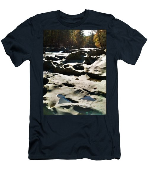 Men's T-Shirt (Slim Fit) featuring the photograph Ancient River by Janice Spivey