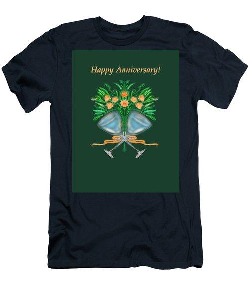 Men's T-Shirt (Slim Fit) featuring the digital art Anniversary Bouquet by Christine Fournier