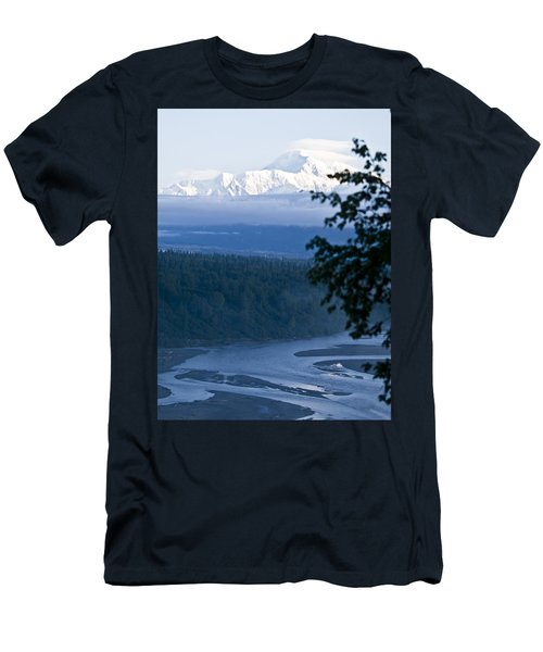 Another Denali View  Men's T-Shirt (Slim Fit) by Tara Lynn