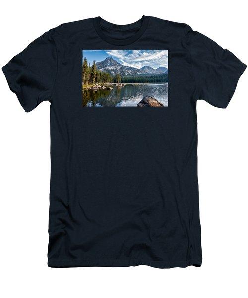 Anthony Lake Men's T-Shirt (Slim Fit) by Robert Bales