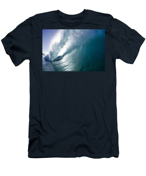 Aqua Curl Men's T-Shirt (Athletic Fit)