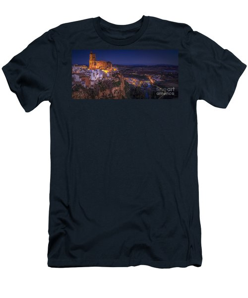 Arcos De La Frontera Panorama From Balcon De La Pena Cadiz Spain Men's T-Shirt (Athletic Fit)