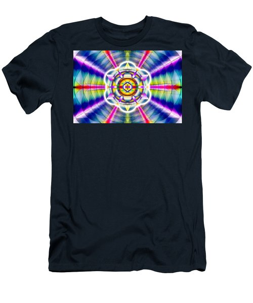 Men's T-Shirt (Slim Fit) featuring the drawing Ascending Eye Of Spirit by Derek Gedney