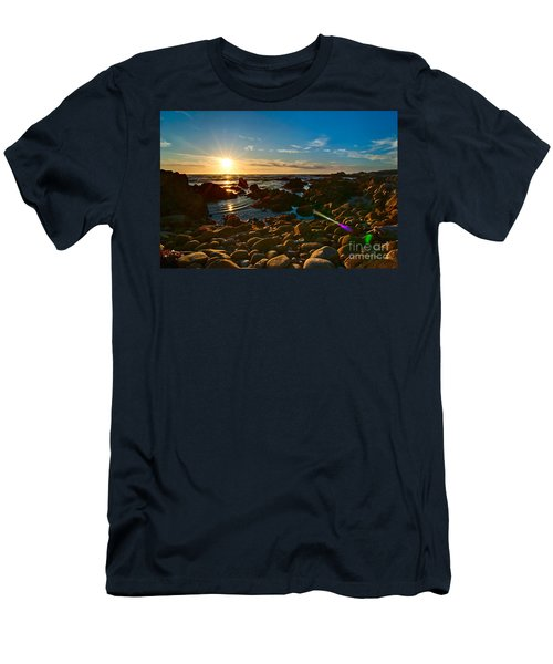Asilomar Sunset - Monterey Bay Men's T-Shirt (Athletic Fit)