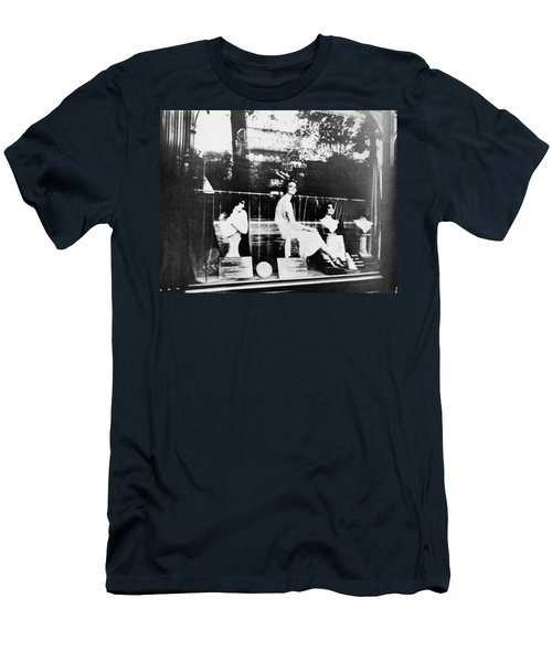 Men's T-Shirt (Slim Fit) featuring the photograph Atget Hairdresser, C1920 by Granger