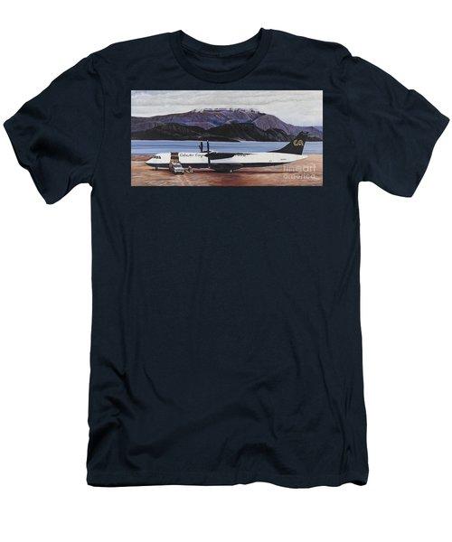Atr 72 - Arctic Bay Men's T-Shirt (Slim Fit) by Marilyn  McNish