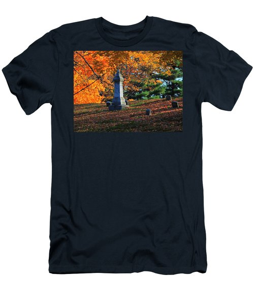 Autumn Cemetery Visit Men's T-Shirt (Athletic Fit)