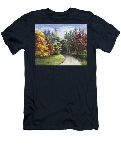 Autumn In The Arboretum Men's T-Shirt (Athletic Fit)