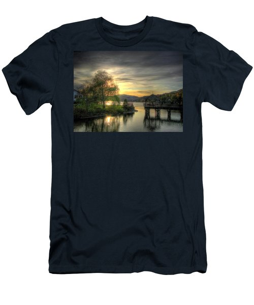 Men's T-Shirt (Slim Fit) featuring the photograph Autumn Sunset by Nicola Nobile