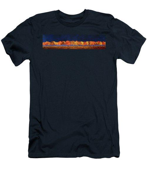 Autumn Trees Men's T-Shirt (Slim Fit) by William Renzulli