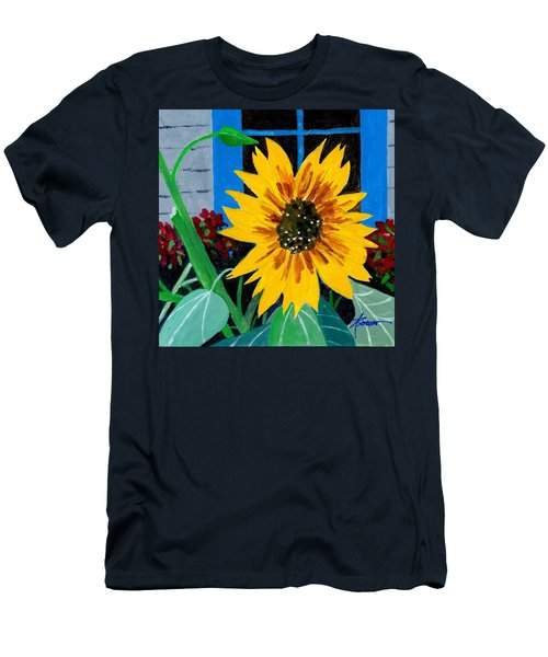 Backyard Flowers  Men's T-Shirt (Athletic Fit)