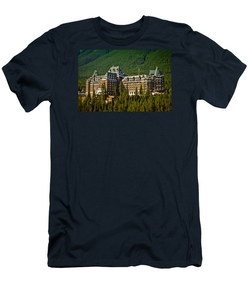 Men's T-Shirt (Slim Fit) featuring the photograph Banff Springs Hotel by Richard Farrington