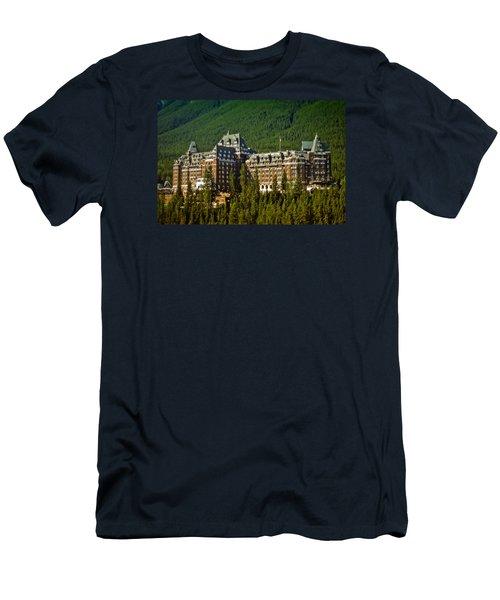 Banff Springs Hotel Men's T-Shirt (Slim Fit) by Richard Farrington