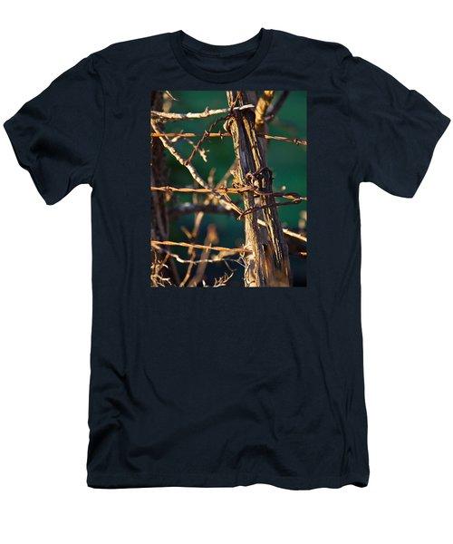 Don't Fence Me In Men's T-Shirt (Slim Fit) by Mark Alder