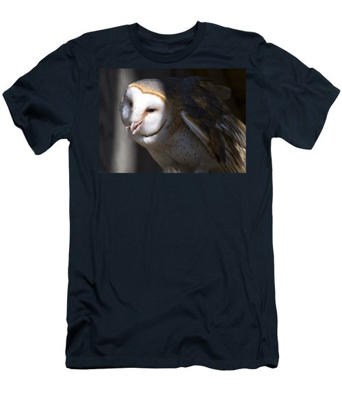 Barn Owl 1 Men's T-Shirt (Slim Fit) by Chris Flees