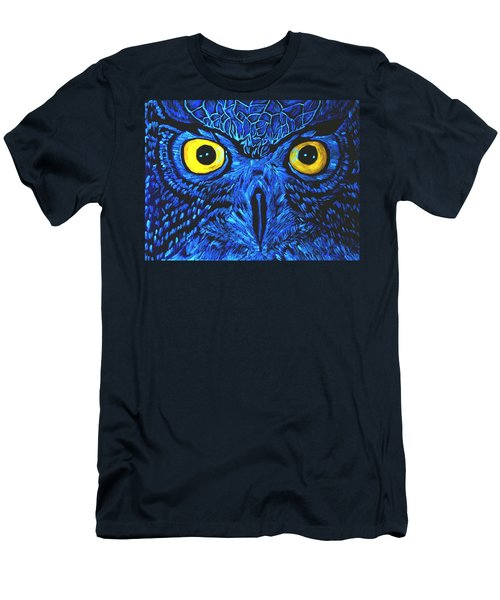 Men's T-Shirt (Slim Fit) featuring the painting Barney Black Light View by Lisa Brandel