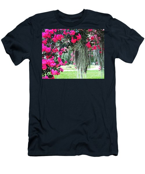 Baton Rouge Louisiana Crepe Myrtle And Moss At Capitol Park Men's T-Shirt (Athletic Fit)