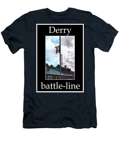 Men's T-Shirt (Slim Fit) featuring the photograph Battleline by Nina Ficur Feenan