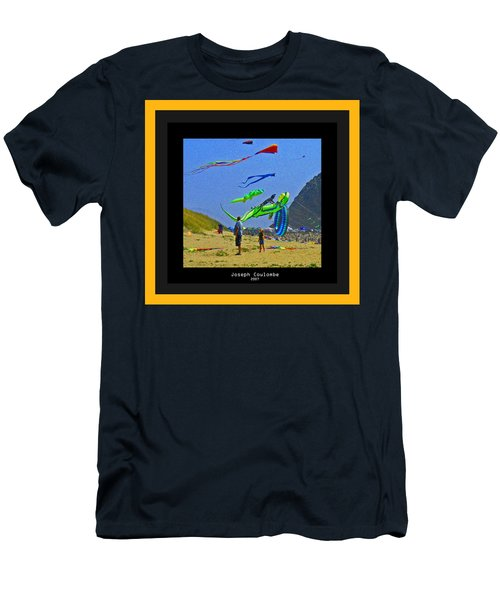 Beach Kids 4 Kites Men's T-Shirt (Athletic Fit)