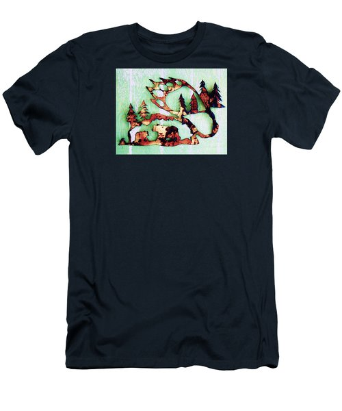Bear Track 11 Men's T-Shirt (Athletic Fit)