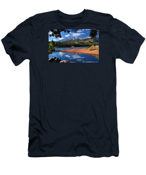 Beautiful Pikes Peak At Crystal  Men's T-Shirt (Slim Fit) by John Hoffman