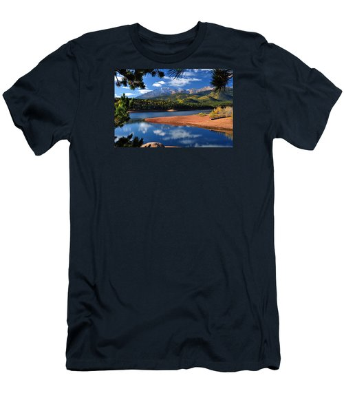 Beautiful Pikes Peak At Crystal  Men's T-Shirt (Athletic Fit)