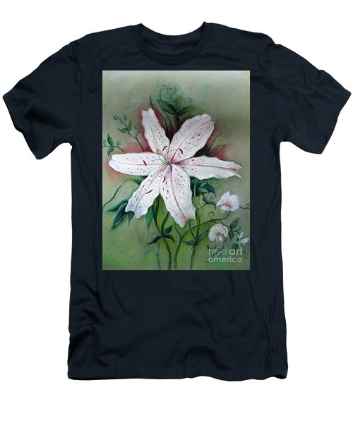 Men's T-Shirt (Slim Fit) featuring the painting Beauty For Ashes by Hazel Holland