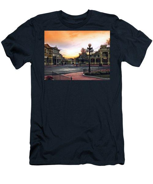 Before The Gates Open Magic Kingdom Walt Disney World Men's T-Shirt (Athletic Fit)