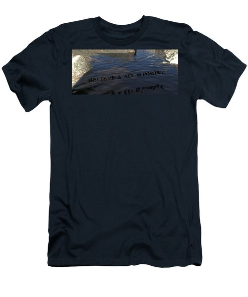 Believe And All Is Possible Men's T-Shirt (Slim Fit) by James Barnes