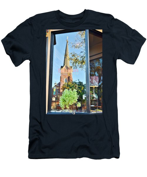 Biblion Used Books Reflections 3 - Lewes Delaware Men's T-Shirt (Athletic Fit)