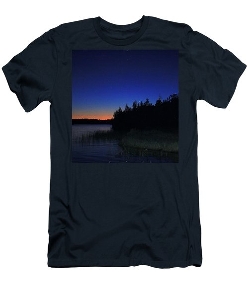 Black And Blue Sky Men's T-Shirt (Slim Fit) by Jason Lees