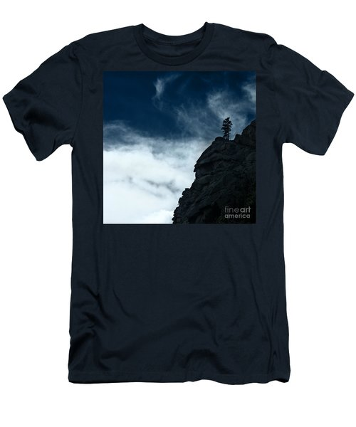 Men's T-Shirt (Slim Fit) featuring the photograph Black Cliff by Dana DiPasquale