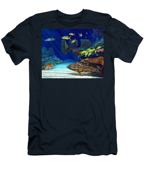 Black Grouper Reef Men's T-Shirt (Slim Fit) by Steve Ozment
