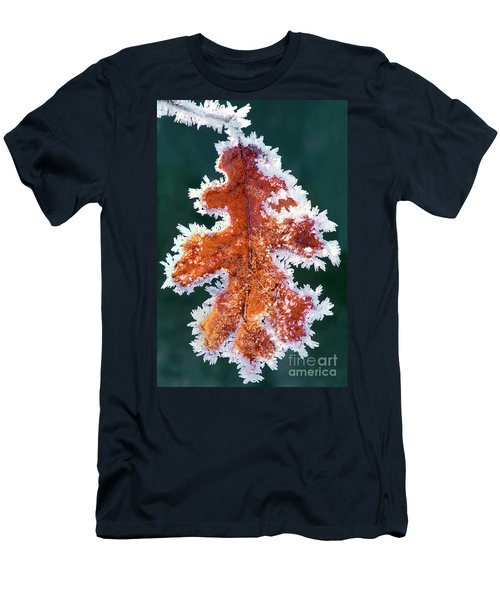 Black Oak Leaf Rime Ice Yosemite National Park California Men's T-Shirt (Athletic Fit)