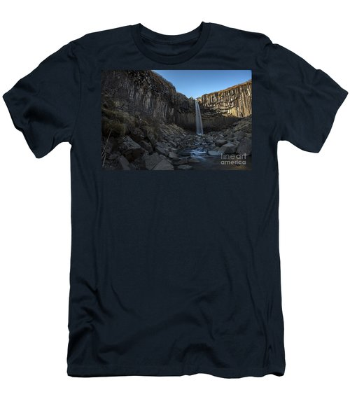 Black Waterfall Men's T-Shirt (Athletic Fit)