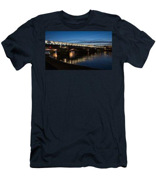Men's T-Shirt (Slim Fit) featuring the photograph Blackfriars Bridge - London U K by Georgia Mizuleva