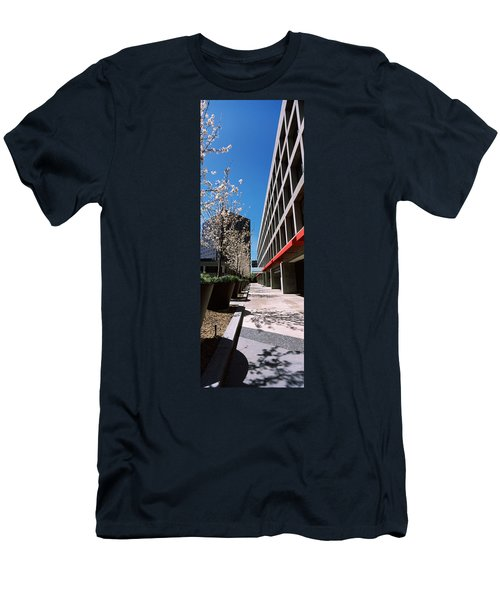 Blooming Tree In The Business District Men's T-Shirt (Athletic Fit)