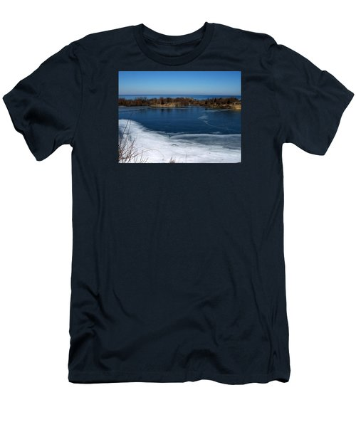 Blue And White Men's T-Shirt (Slim Fit) by Catherine Gagne